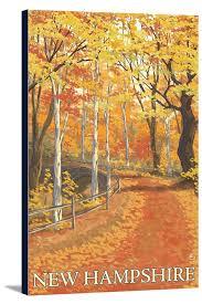 hampshire fall colors scene lantern press artwork