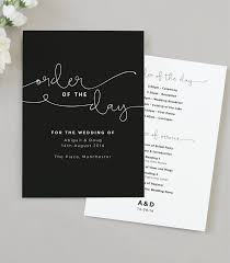 Order Of Wedding Program Kate Wedding Order Of The Day Program Cards U2013 Project Pretty