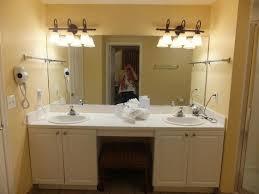 Low Profile Bathroom Vanity by Village At Parkway Master Bathroom Double Vanity With Makeup Seat