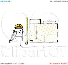 Shop Blueprints Royalty Free Rf Clip Art Illustration Of A Stick Architect