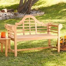 Teak Benches Belham Living Kimbro Lutyens Outdoor Wood Bench With Cushion