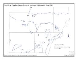 Map Of Southeast Michigan by Gis Portfolio Noah Sager Geographer At Large