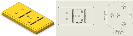 modifying the border of a detail view in solidworks
