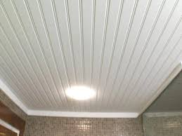 Beadboard Paneling Basement Ceiling