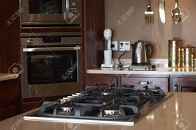 modern kitchen stoves modern kitchen interior with gas stove in focus and new oven