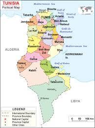 map of tunisia with cities maps of tunisia bizbilla