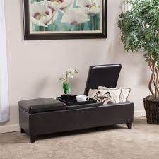 Hinged Storage Ottoman with Awesome Hinged Storage Ottoman With Guernsey Black Leather Storage