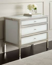 Stainless Steel Nightstand Bernhardt Darcey 3 Drawer Nightstand
