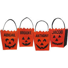 personalized halloween pumpkin face basket walmart com
