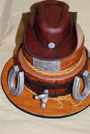 death by chocolate rice crispy cowboy boot and hat great grooms