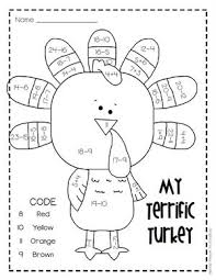 thanksgiving addition and subtraction worksheets free worksheets