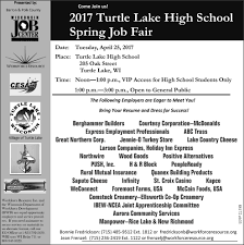 Job Fair Resume by Come Join Us 2017 Turtle Lake High Spring Job Fair