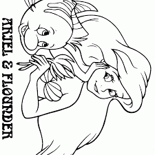 flounder coloring pages ariel and flounder coloring page coloring