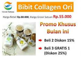 Resmi Collagen Asli bibit collagen original hrg grosir rp 55 000 promo diskon s d 25