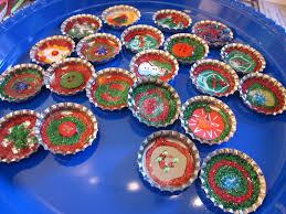 bottle cap ornaments simple blingy and sparkle rific teach