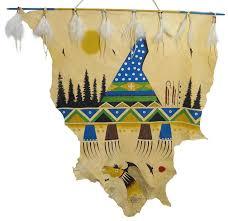 Deer Hide Tanning Companies Native American Hand Painted Hides Native American Hand Painted