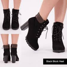 womens fashion boots uk womens wedge heel combat ankle boots lace up block heel