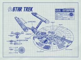 What Size Paper Are Blueprints Printed On Inked And Screened Star Trek Blueprint Graphic Art U0026 Reviews Wayfair