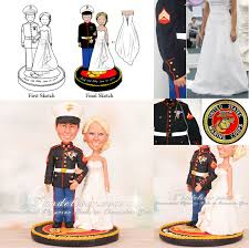 marine cake toppers united state marine corps wedding cake toppers