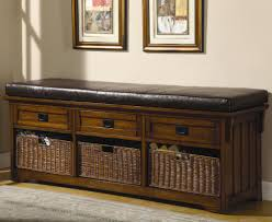 Arhaus Ottoman by Bench Intrigue Designs4comfort Faux Leather Storage Bench