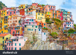 colorful houses manarola cinque terre italy stock photo 535386217