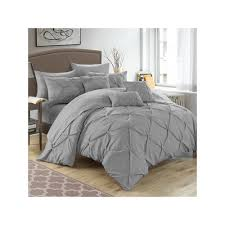 Macy S Home Design Down Alternative Comforter by Chic Home Hannah 10 Piece Bed In A Bag Set Blue Products