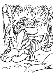 jungle book shere khan relaxed jungle book coloring pages