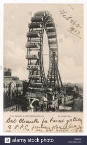 blackpool lancashire the wheel and winter gardens date 1903