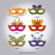 carnevale masks set of carnival masks with different designs vector free