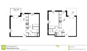 two rooms apartment plans set royalty free stock photo image