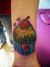 zombie cupcake tattoo by cherryblossomtattoo on deviantart
