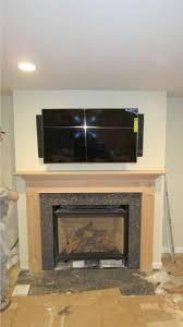 attractive corner gas fireplace with tv above above corner corner
