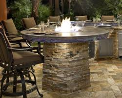Bbq Firepit Custom Pit Built In To Barbecue Island Galaxy Outdoor