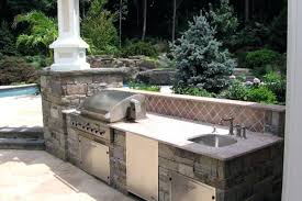 kitchen nice classic outdoor design concrete stainless steel mount