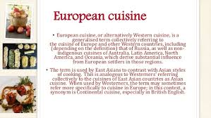 cuisine characteristics food around the project