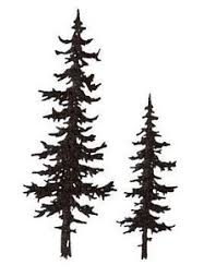 evergreen tree line silhouette embroidery