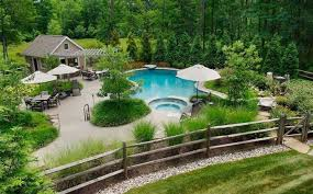 Fence Landscaping Ideas Pool Landscaping Landscape Ideas