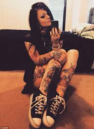 trolls target model turned rapper jackel aitchison u0027s tattoos and