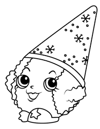 coloring page cone snow crush shopkin coloring page free printable coloring pages