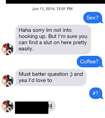 Slutty Girl Meme - this guy made a fake tinder profile to prove that girls never think