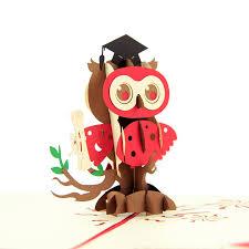 graduation owl graduation owl pop up card 3d card custom cards wholsale
