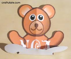 bear pop up card tutorial craftulate