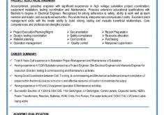Electrical Project Engineer Resume Sample Download Electrical Project Engineer Sample Resume