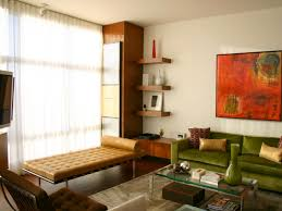 furniture mid century modern with green sofa and glass coffee