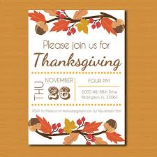thanksgiving invitation templates free orax info