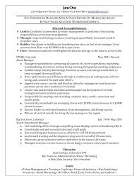 exle resume cover letter retail manager resume template federal resume cover letter excel