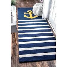 Navy Blue Runner Rug Nautical Runner Rugs Impressive Navy Blue Runner Rug Handmade