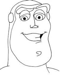 buzz lightyear face coloring pages coloring