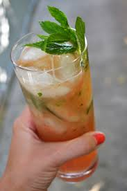 mint julep cocktail grapefruit mint julep the key of kels