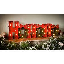 christmas light up words ho ho ho room decorations b u0026m